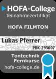 Audio Engineer Zertifikat PRK 293007 1